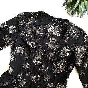 Zara Collection Black Long Sleeve Mini Dress